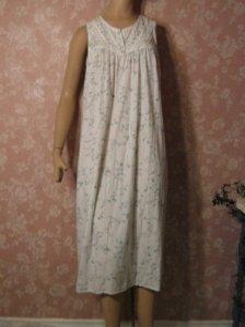 Sweet vintage Cotton Nightgown S M Sleeveless Blue ... fb530c884